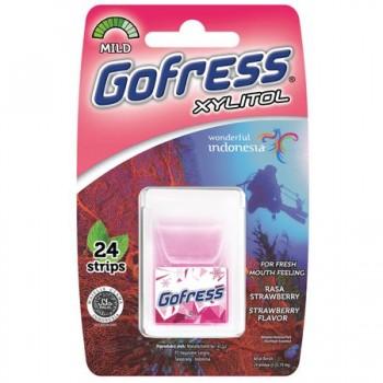 Foite aromate pentru gura - Gofress Strawberry (24)