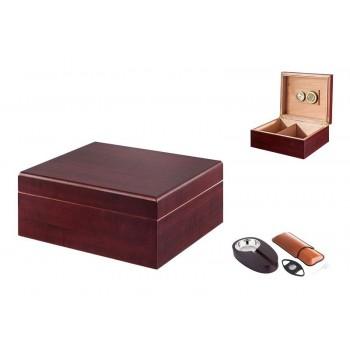Umidor trabucuri - Angelo Gift Set (Cherry)