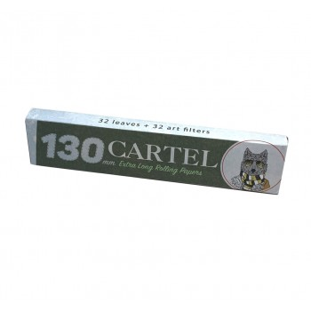 Foite rulat Cartel - Extra LONG 130 mm + Filter Tips (32)
