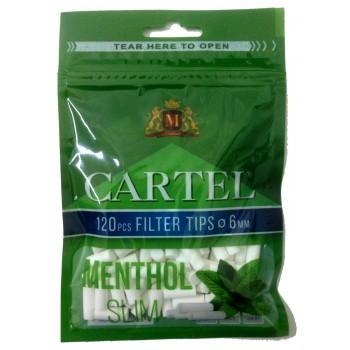 Filtre rulat Cartel - 6 mm Slim Menthol (120)