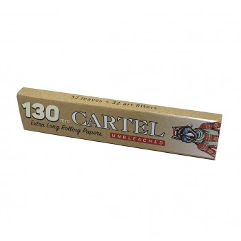 Foite rulat Cartel - Extra LONG 130 mm BIO Unbleached + Filter Tips (32)