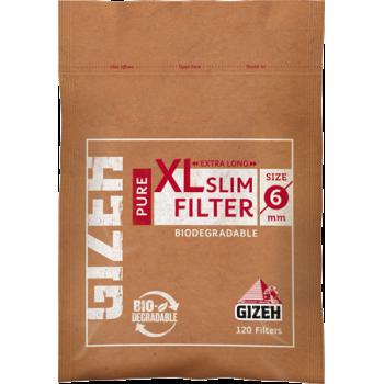 Filtre rulat Gizeh - 6 mm Slim BIO PURE Long (120)
