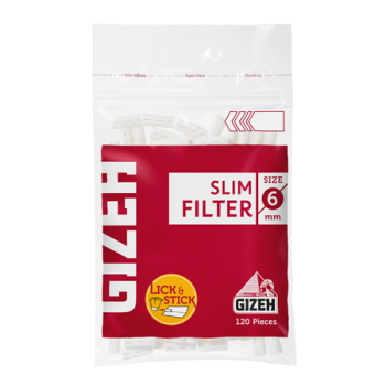 Filtre rulat Gizeh - 6 mm Slim Red (120)