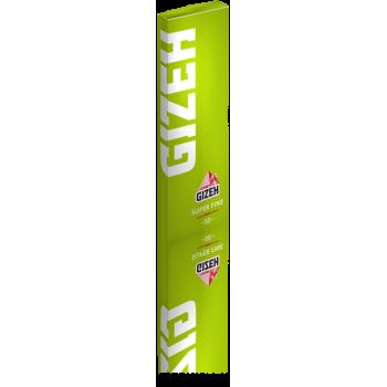 Foite rulat Gizeh - Super Fine Green Cut Corners (50)