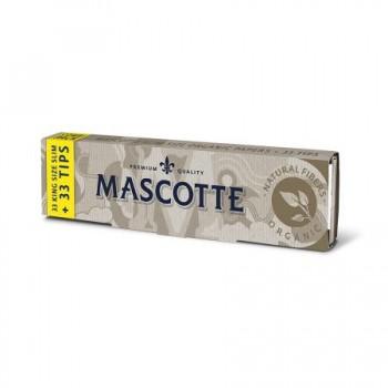 Foite rulat Mascotte - Organic Slim 110 mm King Size Combi (33+33 tips)
