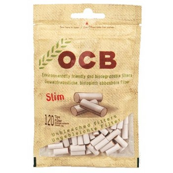 Filtre rulat OCB - 6 mm Slim Organic (120)