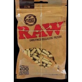 Filtre rulat RAW Unrefined Cellulose - Slim 6 mm (200)