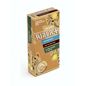 Filtre rulat RIZLA - 5,7 mm Ultra Slims Natura Poppa Tips (120)