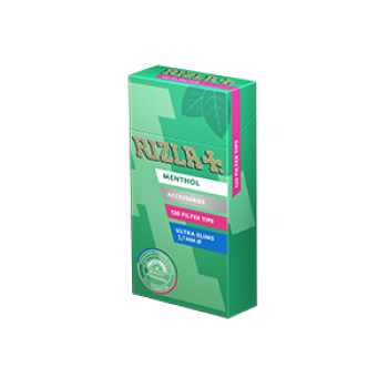 Filtre rulat RIZLA - 5,7 mm Ultra Slims Poppa Tips Menthol (120)
