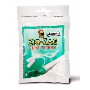 Filtre rulat Zig Zag - 6 mm Slim Menthol (150)