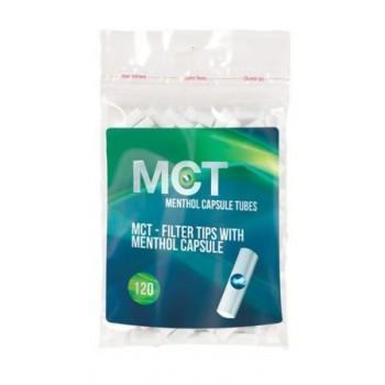 Filtre rulat MCT - 6 mm Slim Click Menthol (100)