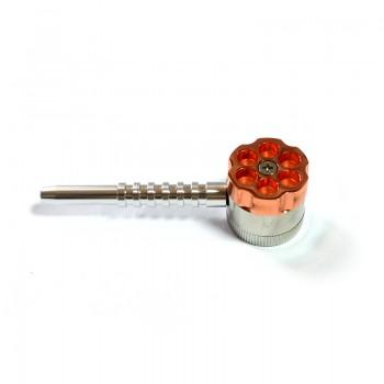 Grinder metalic - TORO Bullet cu pipa 30 mm / 3 parti