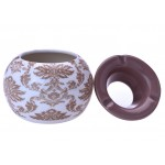 Scrumiera din ceramica - Champ Moroccan Beige Arabesque