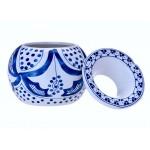 Scrumiera din ceramica - Champ Moroccan White and Blue