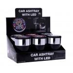 Scrumiera auto - Champ Skull Car Ashtray with LED
