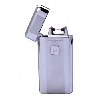 Bricheta electrica Silver Match - USB Plasma Arc Kew Igniter SILVER
