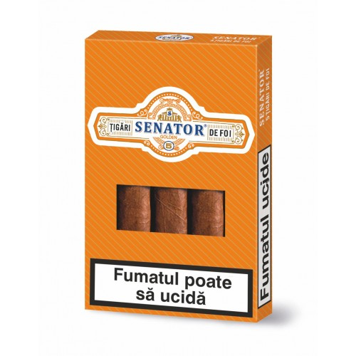 Pachet tigari de foi Senator GOLDEN (125)