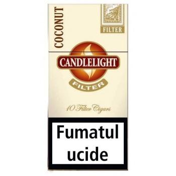 Tigari de foi cu filtru - Candlelight Mini WHITE (10)