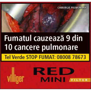 Tigari de foi cu filtru Villiger - Red Mini (10)