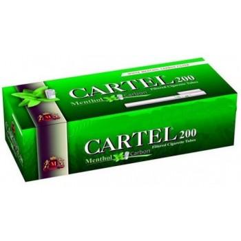 Tuburi tigari CARTEL MENTHOL Multifilter Carbon (200)