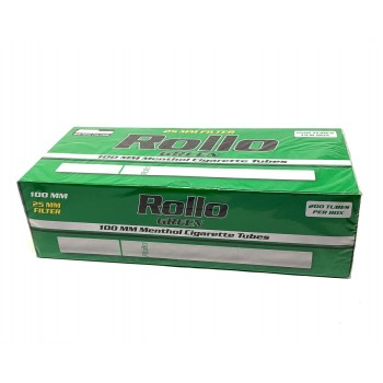 Tuburi tigari Rollo Green Menthol X-Long 100s (200)